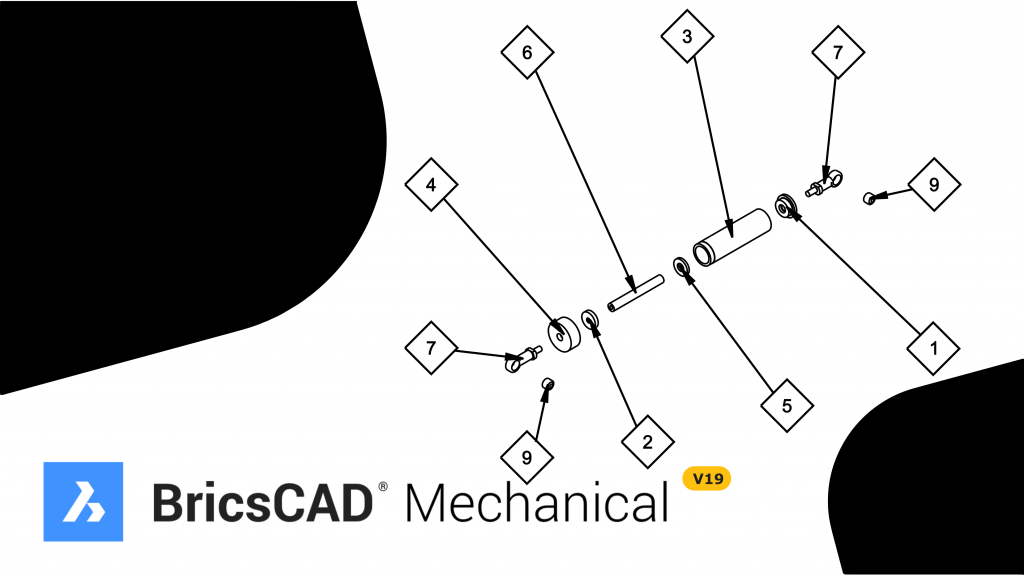 disegno 2d in bricscad mechanical
